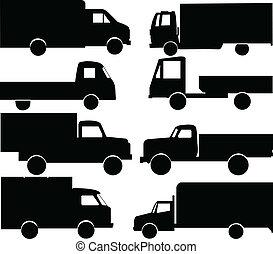 lastwagen, sammlung