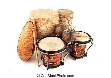 latín, ritmo, instrumentos