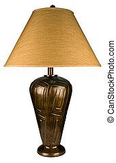 latón antiguo, lámparade mesa