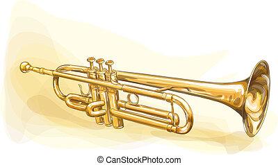 latón, trompeta