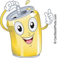 lata de refresco, mascota