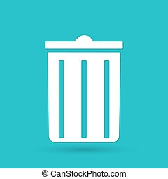 lata lixo, ícone