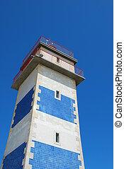 latarnia morska, architektura, w, cascais, portugalia