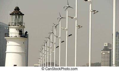 latarnia morska, i, wiatr turbina