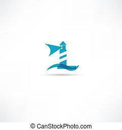latarnia morska, ikony