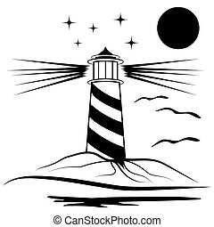 latarnia morska, ilustracja