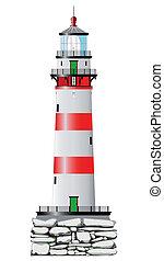 latarnia morska, odizolowany