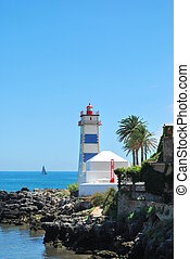 latarnia morska, w, cascais, portugalia