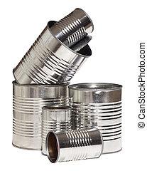 latas, aluminio