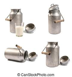 latas de leche