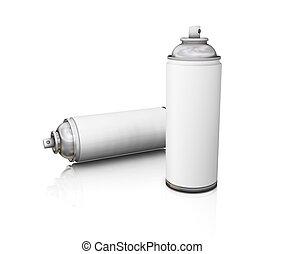 latas del aerosol