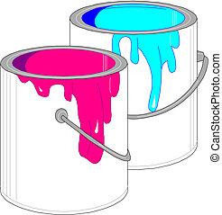 latas, pintura