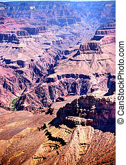 Grand Canyon Arizona - Late afternoon in the Grand Canyon ...
