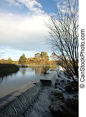 Late afternoon, Wingecarribee Weir, near Moss Vale, New South Wales, Australia
