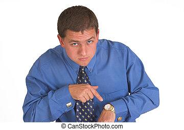 Business man waiting for deadline assignment