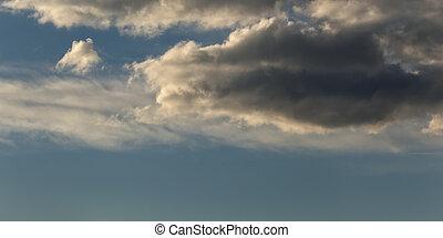 Late evening cloudscape