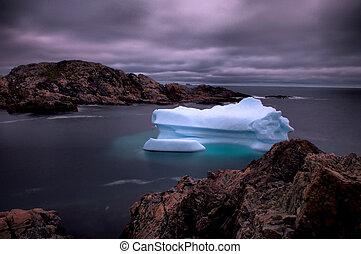 Late July Berg - Iceberg near Herring Neck, Newfoundland.
