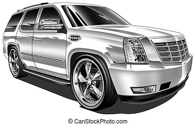 Late Model Custom SUV - digital illustration