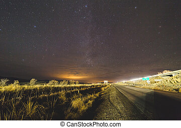Late night in remote eastern Oregon