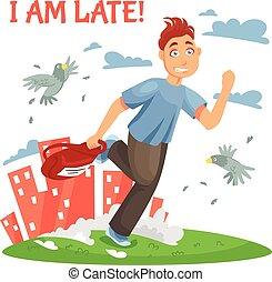 Late Teenager Running To School