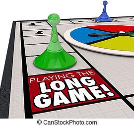 later, recettes, long, patience, jeu, en mouvement, en avant!, inve, jouer