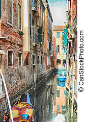 lateral narrow Canal, Venice,