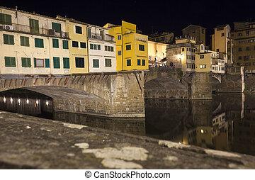 historic bridge in Florence, Italy