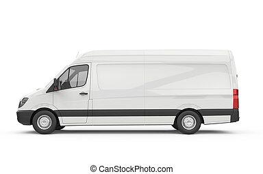 Lateral view of a van, mockup