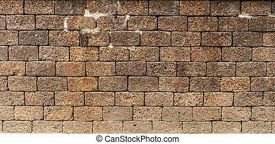 Laterite block wall texture