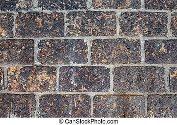 Laterite Brick wall texture. Antique Laterite brick wall.