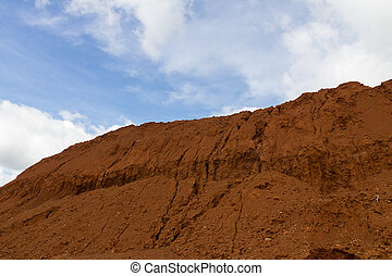 Laterite ores Stockpile. used in the cement industry