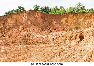 laterite soil excavation site for sale, construction