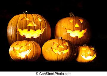 latern, calabazas, halloween