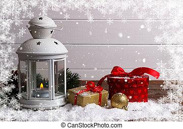 tanne laterne schnee weihnachten tanne laterne. Black Bedroom Furniture Sets. Home Design Ideas