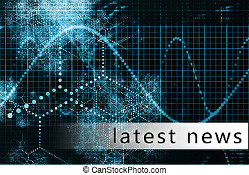 Latest News in a Blue Data Background Art