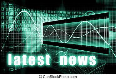 Latest News Headlines Background Sign as an Art