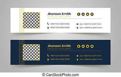 latest unique corporate and business email signature template design.