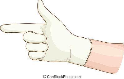 latex, main, proctologist, glove.