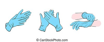 Latex surgical gloves. medical protective gloves - Latex ...