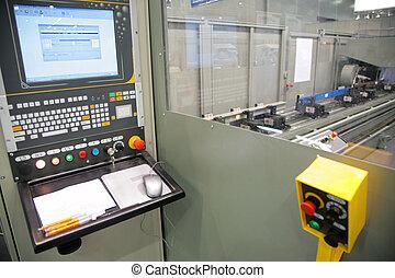 lathe control cabin