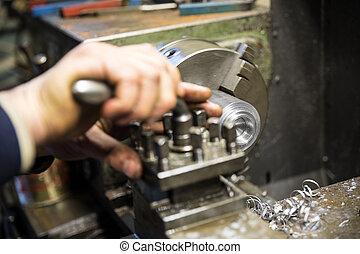 Lathe grinder machine - Metalworking industry, metal working...