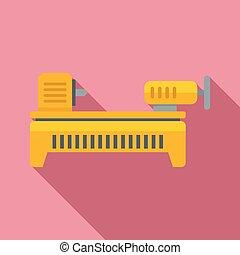 Lathe icon. Flat illustration of Lathe vector icon for web design