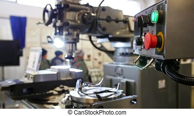lathe machine at factory - machinery industry