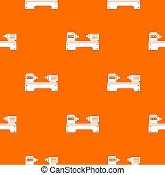 Lathe machine pattern seamless