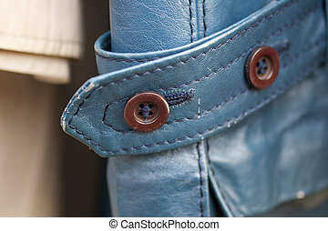 Photo of leather cuff with buttons