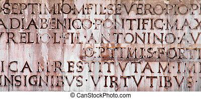 latim, inscrição, antiga