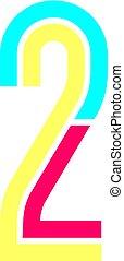 Latin alphabet, Font in the Disco style, bright multi-color