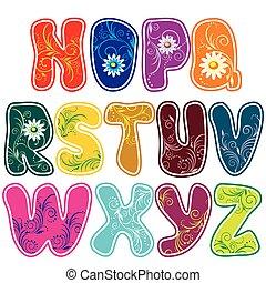 alphabet (Part 2) - Latin alphabet (Part 2) of the color of...