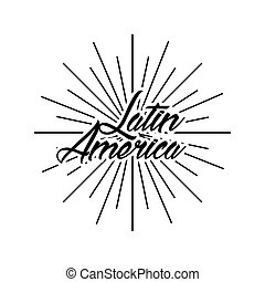 latin america card icon over white background. vector...