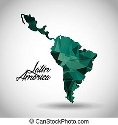 latin america design - latin america map icon over white...